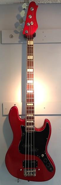 harmony 4 string electric jazz bass guitar reverb. Black Bedroom Furniture Sets. Home Design Ideas