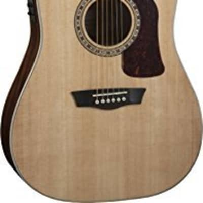 Washburn HD10SCE Heritage Dreadnought Acoustic-Electric Guitar (Natural) for sale