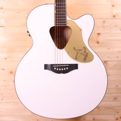 Gretsch G5022CWFE Rancher Falcon Solid Spruce Top Jumbo Cutaway Acoustic-Electric Guitar - White for sale