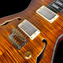 2019 Knaggs Chena Influence Hollowbody Tier 1 Flame Top w Fralin Pure PAF's~ Aged Scotch, Semi Gloss