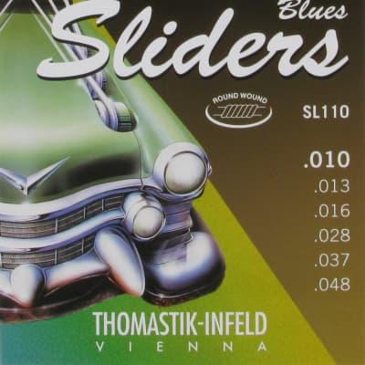NEW Thomastik-Infeld Blues Sliders Electric Guitar Strings - SL110 (.010 - .048)