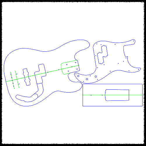 Precision Bass Guitar Routing Templates 14 Clear Reverb