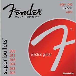 Fender 3250L Super Bullets Electric Guitar Strings Set - LIGHT 9-42 for sale