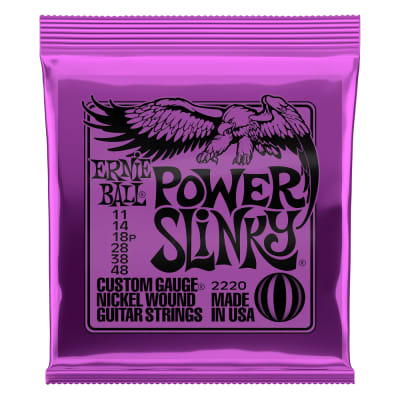 Ernie Ball Power Slinky Nickel Wound Electric Guitar Strings 11-48 (P02220)