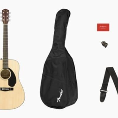 Fender CD-60S Dreadnought Acoustic Guitar Pack V2 - Natural