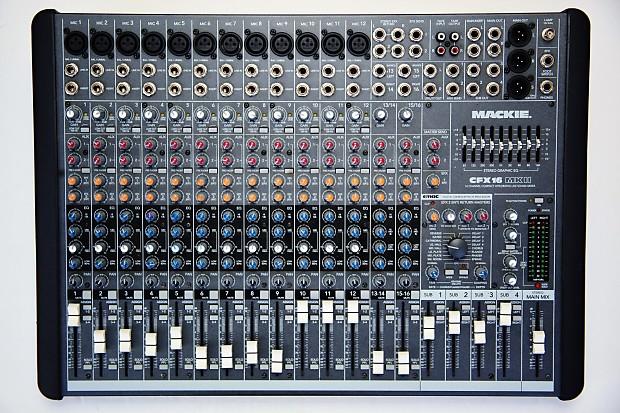 Mackie cfx16. Mkii average used price audiofanzine.