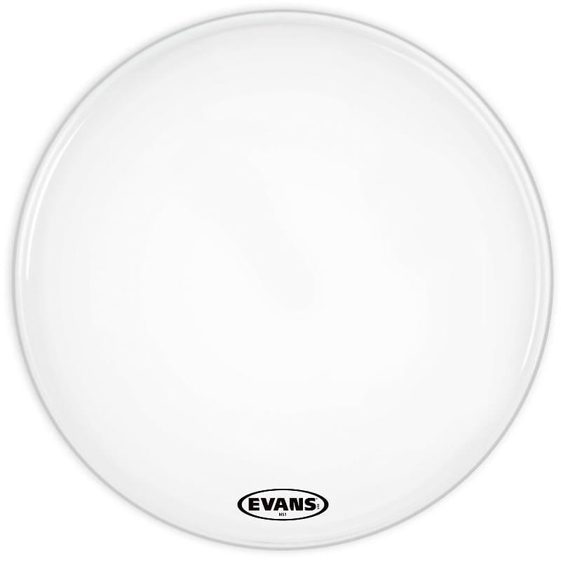 evans 26 ms1 white marching bass drum head klash reverb. Black Bedroom Furniture Sets. Home Design Ideas