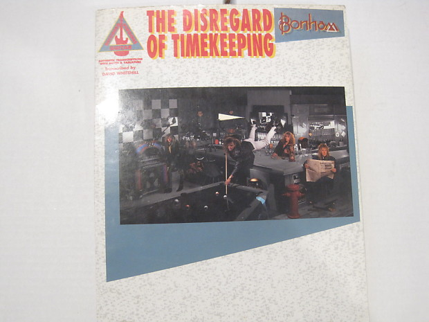 bonham the disregard of timekeeping sheet music song book reverb