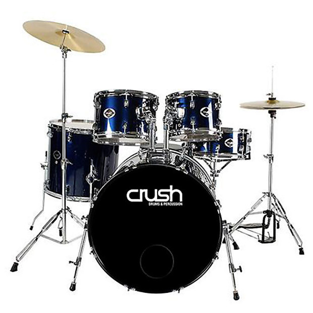 crush alpha 5 piece drum kit with hardware accessories reverb. Black Bedroom Furniture Sets. Home Design Ideas