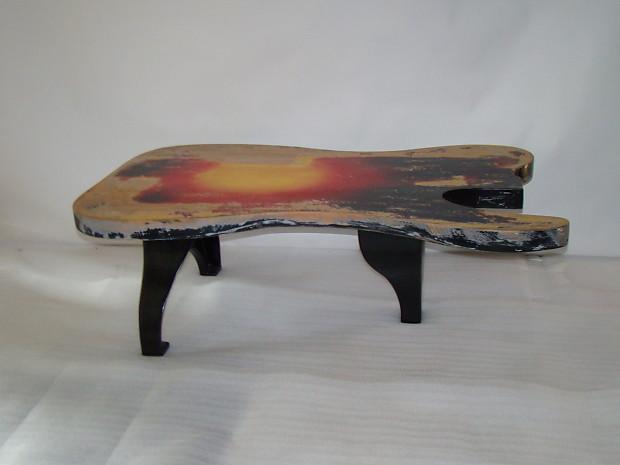 Fender Telecaster Vintage Sunburst 5 Foot Coffee Table Custom Made
