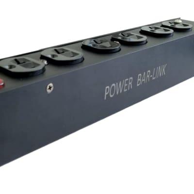 Power bar link Powercon AC Outlet Box, Loaded W/ Neutrik, . USA Made
