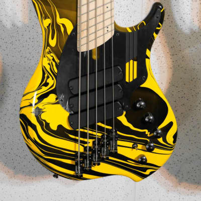 Dingwall NG3 5-String Yellow Swirl Includes Gigbag! Authorized Dealer! Bass Specialty Store! for sale