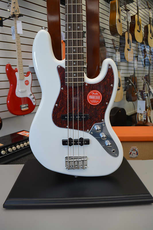 Squier Vintage Modified Jazz Bass Olympic White Jim Laabs Music