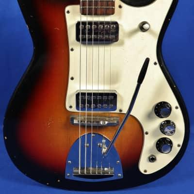 Vintage 1960's Kapa Challenger Electric Guitar w/ Case Tobacco Sunburst for sale