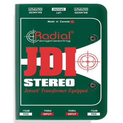 Radial JDI Stereo Passive 2-Ch Instrument Guitar Bass Keyboard DI Direct Box