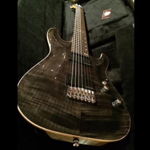 Schecter Sunset Classic II 7 USA,  Trans Black 7 String for sale