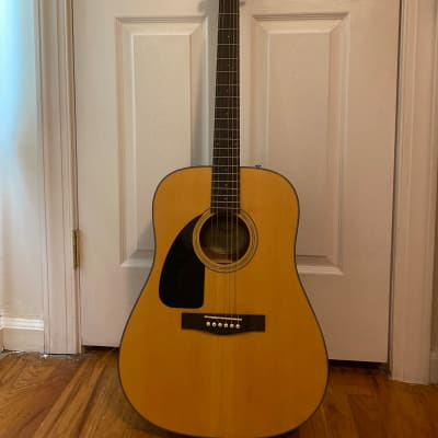 Fender CD-100 Left Hand  Tan with Cherry