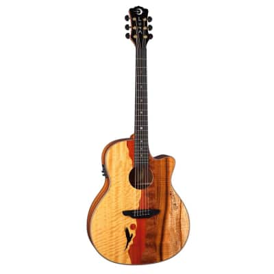 LUNA Vista Eagle Tropical Wood Acoustic w/pre-amp Case included for sale