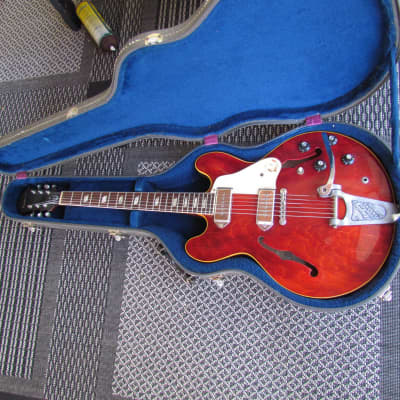 1968 Epiphone Casino W/Original Grey Blue Lined Case Vintage Epiphone Casino Original Cherry Red for sale