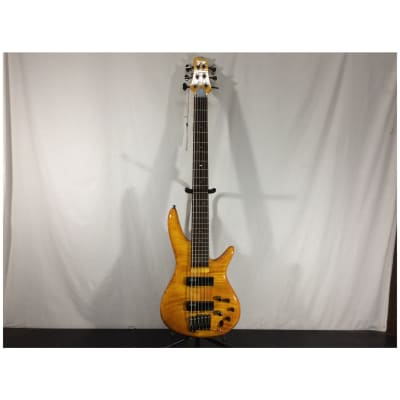 Ibanez GVB36 Gerald Veasley Signature 6-String Bass Guitar, Amber