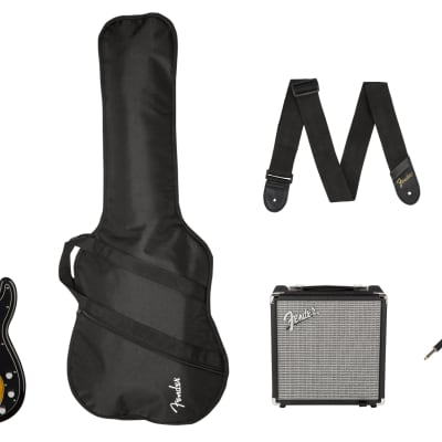 Fender Squier Affinity Series Precision Bass PJ Pack, Laurel FB, Brown Sunburst, Gig Bag, Rumble 15 - 120V