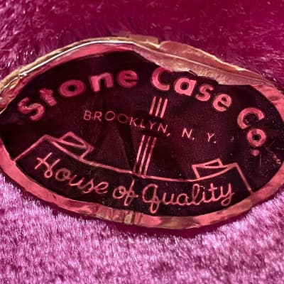 Stone Case Co. Brown 335 Guitar Case 1950's Brown for sale