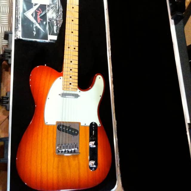 Fender Custom Shop Telecaster deluxe ash maple neck antic cherry burst - STOCK B image