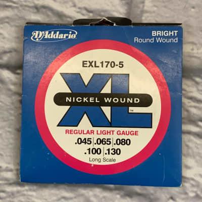 D'Addario EXL170-5 Regular Light 45-130 Bass Strings
