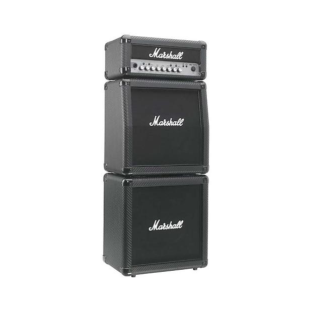 marshall mg15cfxms 15w guitar mini stack carbon fiber with reverb. Black Bedroom Furniture Sets. Home Design Ideas
