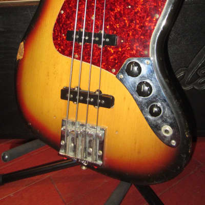Vintage 1973 Fender Jazz Bass Sunburst for sale