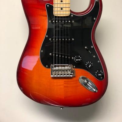 Fender Fender Flame Top MIM Stratocaster  2018 Cherry Burst for sale