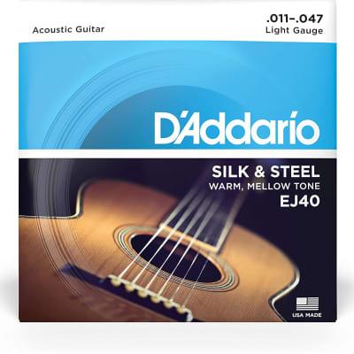 D'Addario EJ40 Silk & Steel Acoustic Guitar Strings