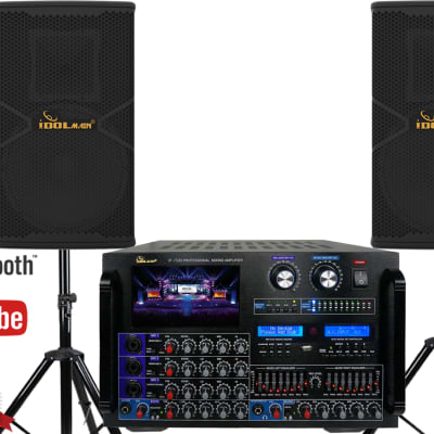 IDOLmain Best Sound System With Superior Speakers And 8000W Mixing Amplifier