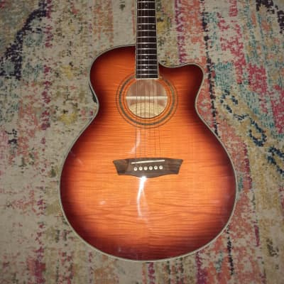 Washburn Festival EA15  Acoustic-Electric Guitar in Ice Tea Burst for sale