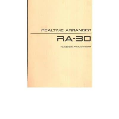 Roland Ra-30 Manuale Di Istruzioni In Italiano