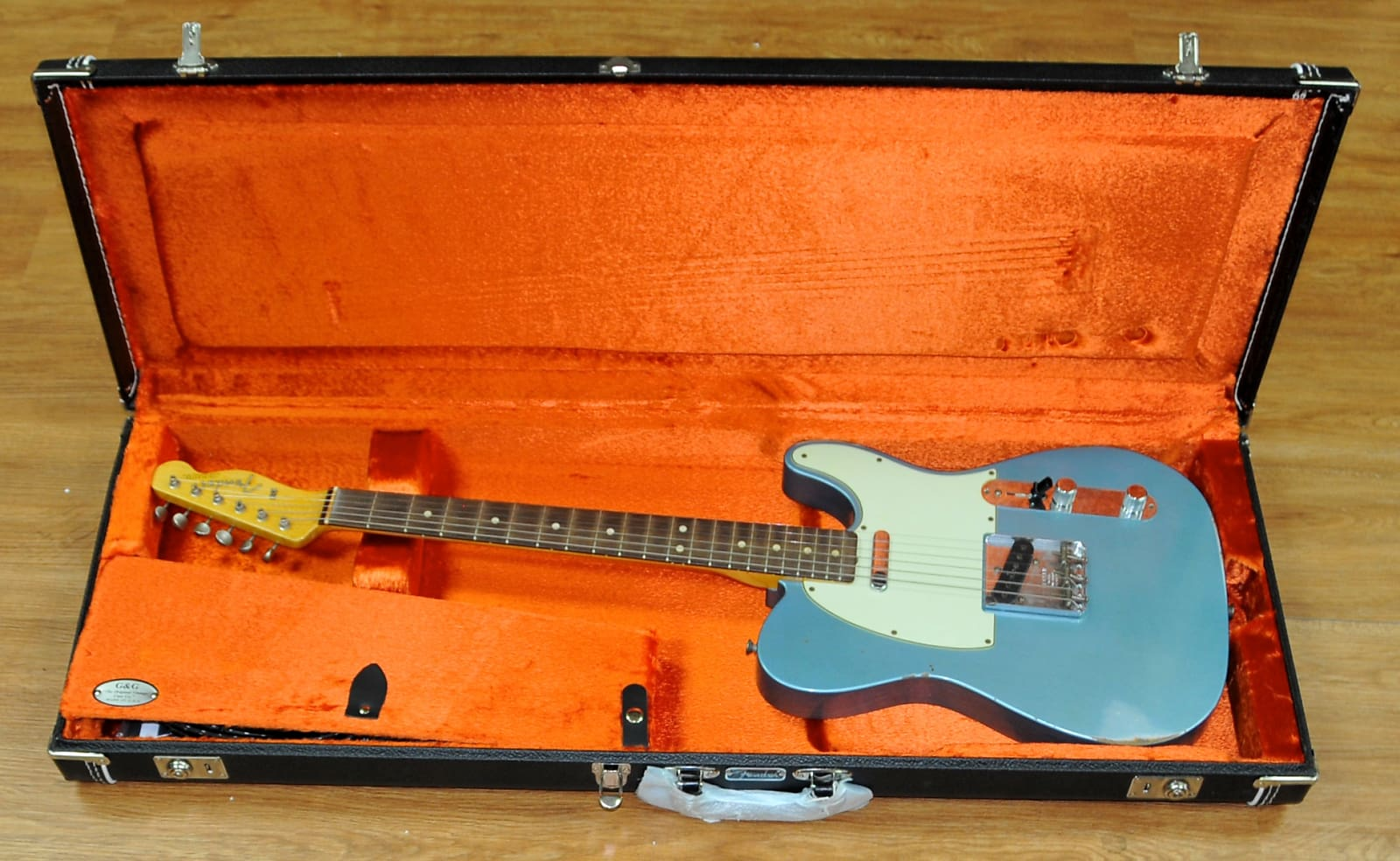 Fender 63 Relic Custom Shop Telecaster 2015 Nitro Ice Blue Metallic