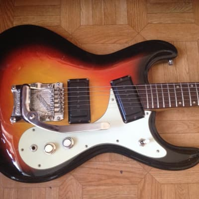 1969 Morales Vibramatic Mosrite style Vintage Japan Sunburst color Rare for sale