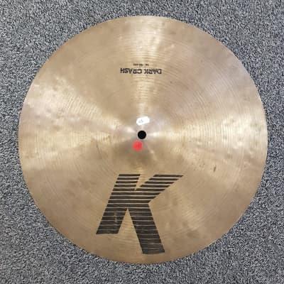 "Zildjian 16"" K Series ""EAK"" Dark Crash Cymbal 1982 - 1988"