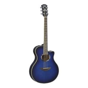 Yamaha APX500III Thinline Acoustic/Electric Cutaway Guitar Oriental Blue Burst