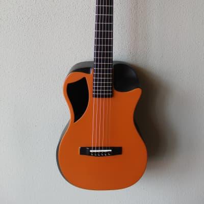 Brand New Journey OF660 Overhead Carbon Fiber Acoustic/Electric Travel Guitar - Orange Matte for sale