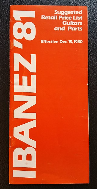 ibanez guitars and parts price list 1981 vintaxe reverb. Black Bedroom Furniture Sets. Home Design Ideas