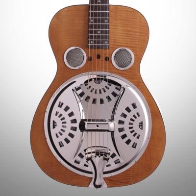 Epiphone Dobro Hound Dog Deluxe Roundneck Resonator Guitar, Vintage Brown for sale