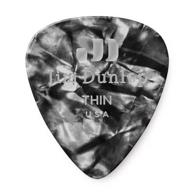 Dunlop 483R02TH Celluloid Standard Classics Thin Guitar Picks (72-Pack)