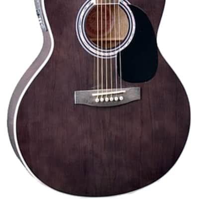 Jay Turser JTA-444-CET-TBK JTA Series Thin Body 6-String Acoustic Guitar - Trans Black for sale