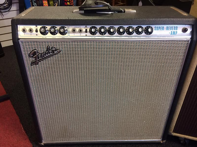 Fender Super Reverb 1968 Silverface 4x10 Tube Amp W Original