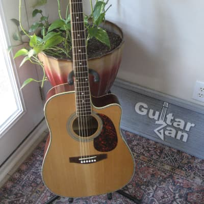 JB Player JBEA80 Acoustic/Electric Guitar~Natural~Abalone Bound Body~Bound Neck & Headstock~ for sale