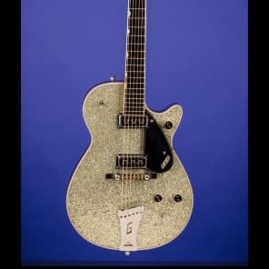 Gretsch 6129 Silver Jet 1958 Silver Sparkle Top with Mahogany Body for sale