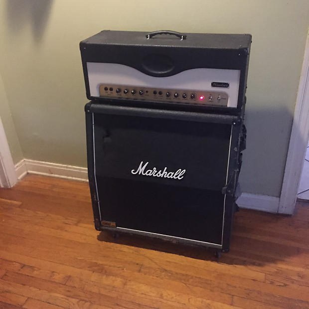 peavey windsor head and marshall 1960a slant cab half stack reverb. Black Bedroom Furniture Sets. Home Design Ideas