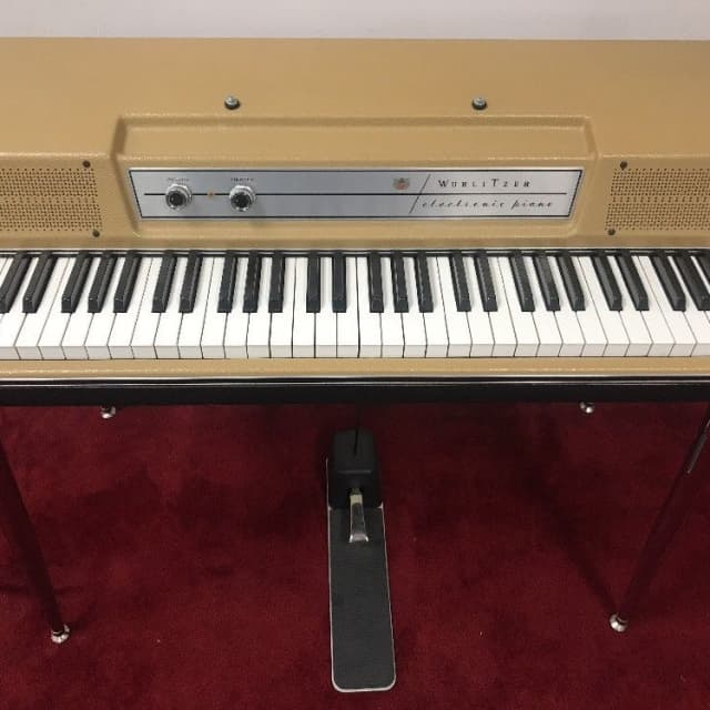 Vintage Wurlitzer 206A 200 Beige Top Vintage 70's Electric Piano Beige Top / Tan image