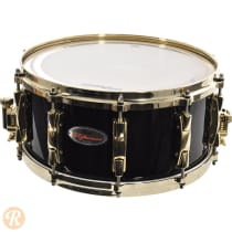 Pearl 6.5x14 Reference Snare Drum 20-ply 2012 Piano Black With Gold Hardware image